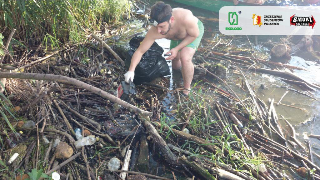 zbieranie śmieci z Wisły 2
