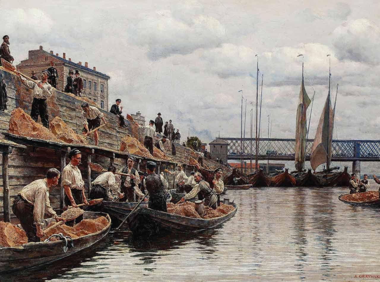 Barki na Wiśle - Transport rzeczny