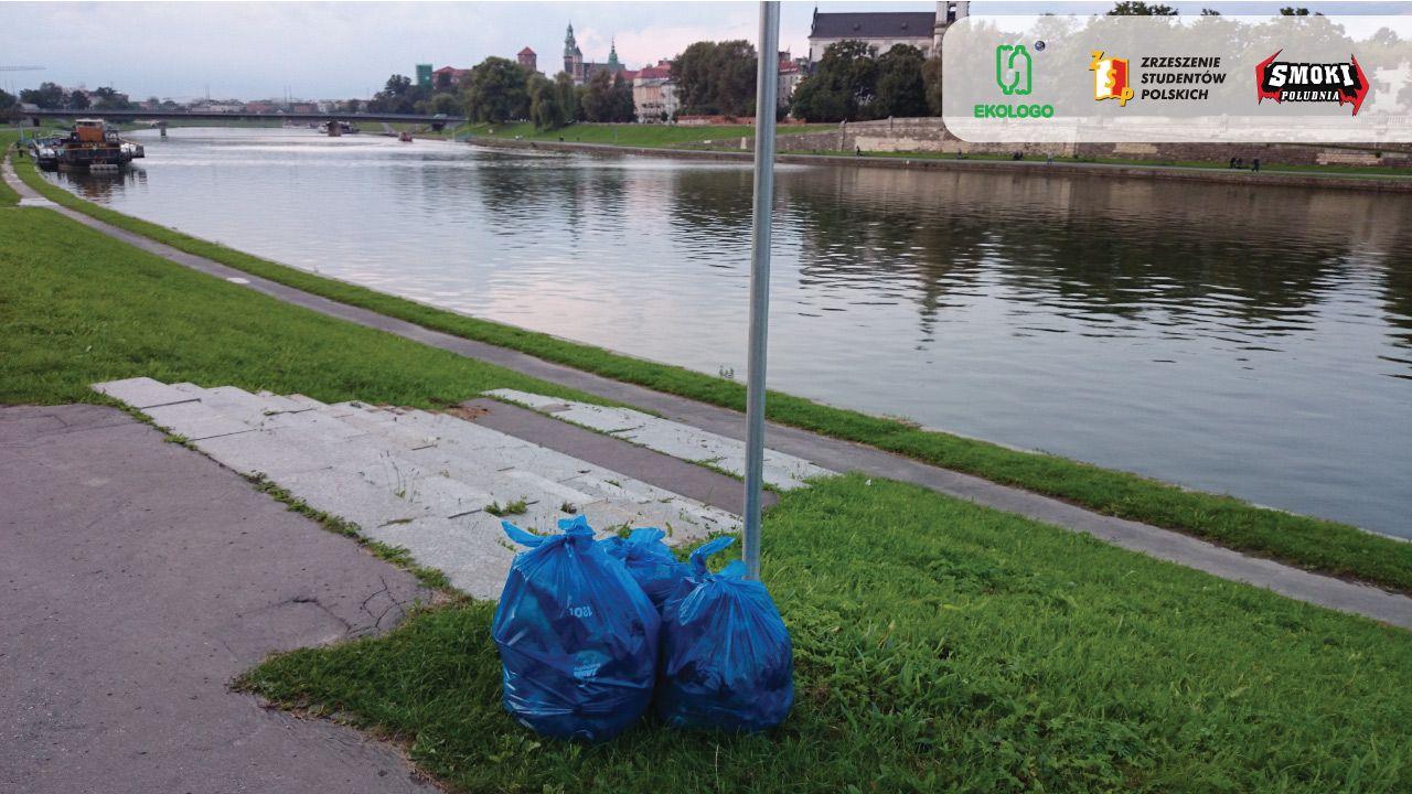 One small step for man.. czyli 3 worki śmieci uzbierane z Wisły