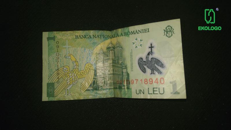 Plastikowe banknoty w Rumunii - ekologo prezentuje