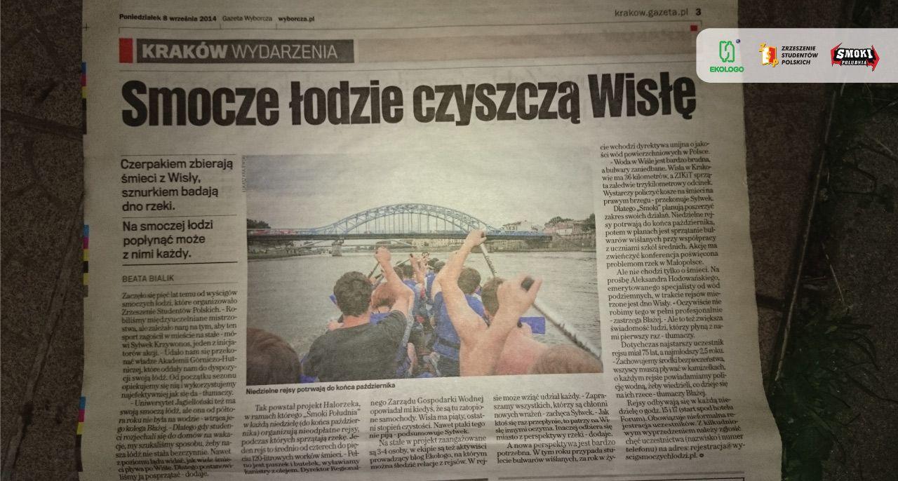 Gazeta Wyborcza pisze o Ekologo i #HaloRzeka