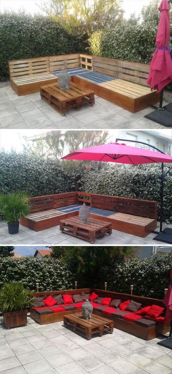 meble ogrodowe z palet 1